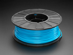 Spool of PLA filament for 3D printers - neon blue color with 2.85mm Diameter.