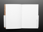 Inside gridded line page and blank page