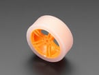 Orange and Clear TT Motor Wheel for DC Gearbox Motor