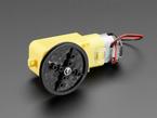 TT Motor Pulley installed on DC motor