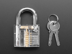 Padlock with two keys.