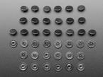 grid of Plastic Pop Rivets for Cardboard Crafts