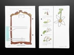 Loose open pages featuring a template to create a wind sensor with a paper flower and conductive copper tape.