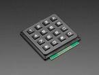 Angled shot of 4x4 matrix keypad.