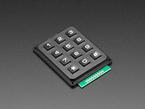 Angle shot of phone-style button keypad