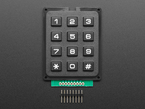 Top down of keypad and loose header
