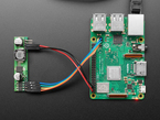 PoE Module PCB wired to Raspberry Pi