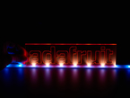 LED strip used to light up a UV reactive plastic sign