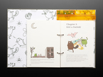 Open kids' technical book with friendly woodland creatures teaching about adding a switch.