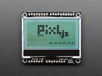 Monochome LCD with Pixl.js logo displayed