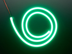 Coil of neon-looking green light