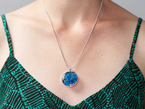 Additional shot of pendant being worn