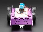 Bearing mounted onto pink two wheel robot, front facing
