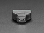 Close-up of Mini B socket on USB Mini B Female Socket to 5-pin Terminal Block.