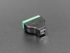 angled shot of USB Mini B Female Socket to 5-pin Terminal Block