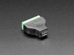 angled shot of USB Micro B Female Socket to 5-pin Terminal Block