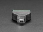 Close-up of mini B plug on USB Mini B Male Plug to 5-pin Terminal Block.