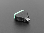 angled shot of USB Mini B Male Plug to 5-pin Terminal Block