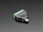 angled shot of USB Micro B Male Plug to 5-pin Terminal Block