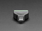 Close-up of micro B plug on USB Micro B Male Plug to 5-pin Terminal Block.