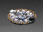 Angle of Circuit Playground with crystals on 10 LEDs