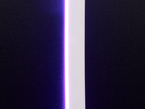 Close up of lit neon-like silicone LED strip