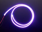 Coil of neon-looking purple light