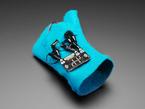 Assembled  Pimoroni MINI.MU Glove Kit with speaker on top