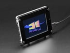 Powered up PyPortal in acrylic enclosure