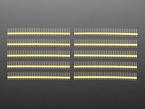 Break-away 0.1 inch 36-pin strip male header - yellow plastic