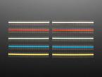 Break-away 0.1 inch 36-pin strip male header - Five different color plastics