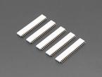 Five pack of 20-pin 0.1 Female Header - White plastic
