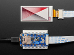 24-pin eInk / ePaper Extension Cable connecting Featherwing to Tri-color display