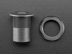 Round Panel Mount Adapter along side plastic nut