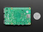 Bottom of Pi showing Micro SD socket