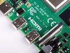 Close up of dual HDMI outputs