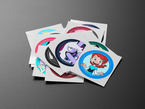 Stack of circle cartoon network stickers