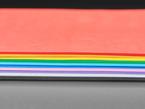 Close-up of EVA foam sheet pack in rainbow colors.