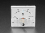 Small -1 Amp to +1 Amp DC Current Analog Panel Meter