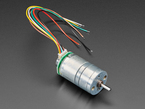 Geared DC Motor with Magnetic Encoder Outputs and many wires