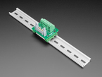 DIN Rail 2x8 IDC to Terminal Block Adapter Breakout mounted onto DIN rail