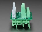 Profile shot with DIN rail mount detail