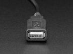 Close up of USB Type A socket