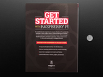 Backcover of Get started with Raspberry Pi book next to US quarter.
