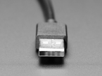 Close up of USB Type A connector end