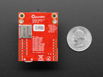 Back of module showing SD card, next to quarter