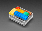 Enclosure with Lego Bricks plugged on top
