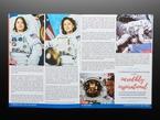 Open magazine spread featuring women astronauts.