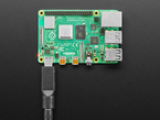 Adapter plugged into raspberry pi