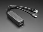 802.3af PoE Output Data and Power Splitter to Ethernet plus Type C USB